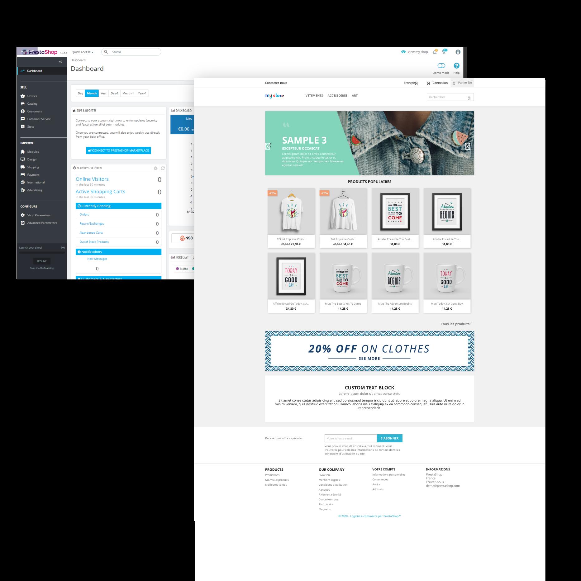 Création de sites e-commerce PrestaShop