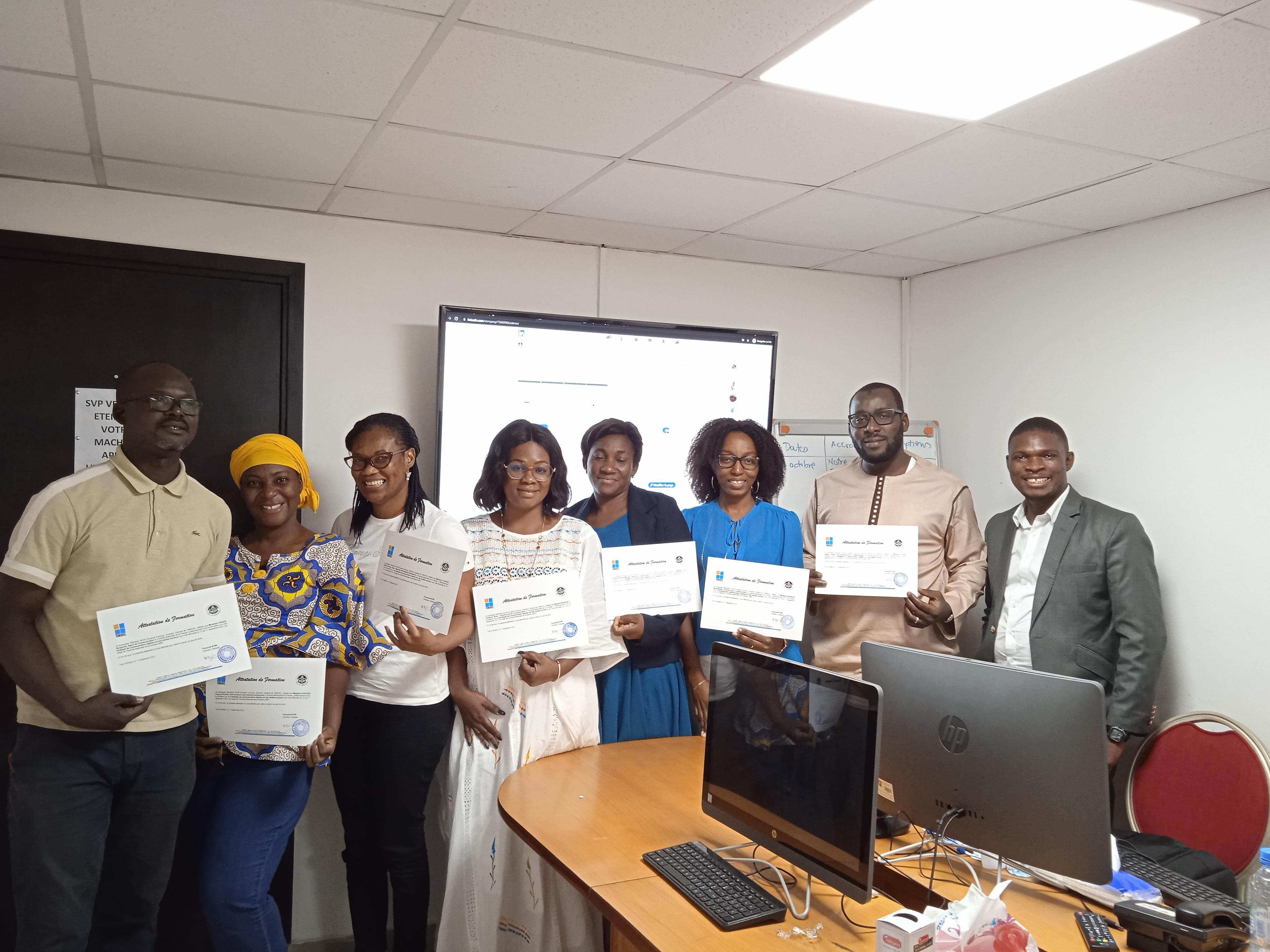 03 jours de formation intensive en marketing digital dispensée à l'Autorité Nationale de la Presse – ANP